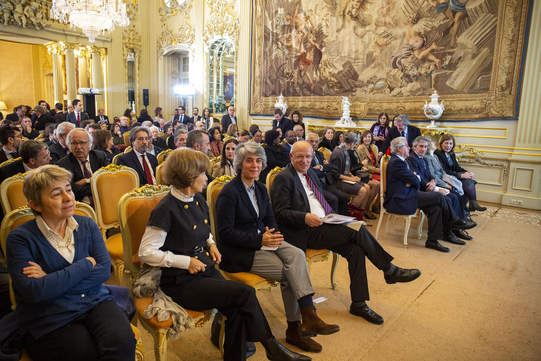 Ministros de Estado e dos Negócios Estrangeiros, Santos Silva, e da Cultura, Graça Fonseca, na apresentação do Programa de Ação Cultural Externa para 2020, Lisboa, 19 fevereiro 2020 (foto: João Bica)